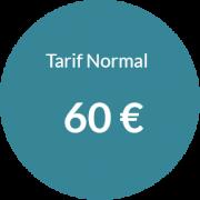 Tarif normal 60 € pour séance d'hypnose