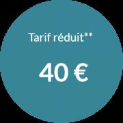 Tarif réduit 40 € pour séance d'hypnose